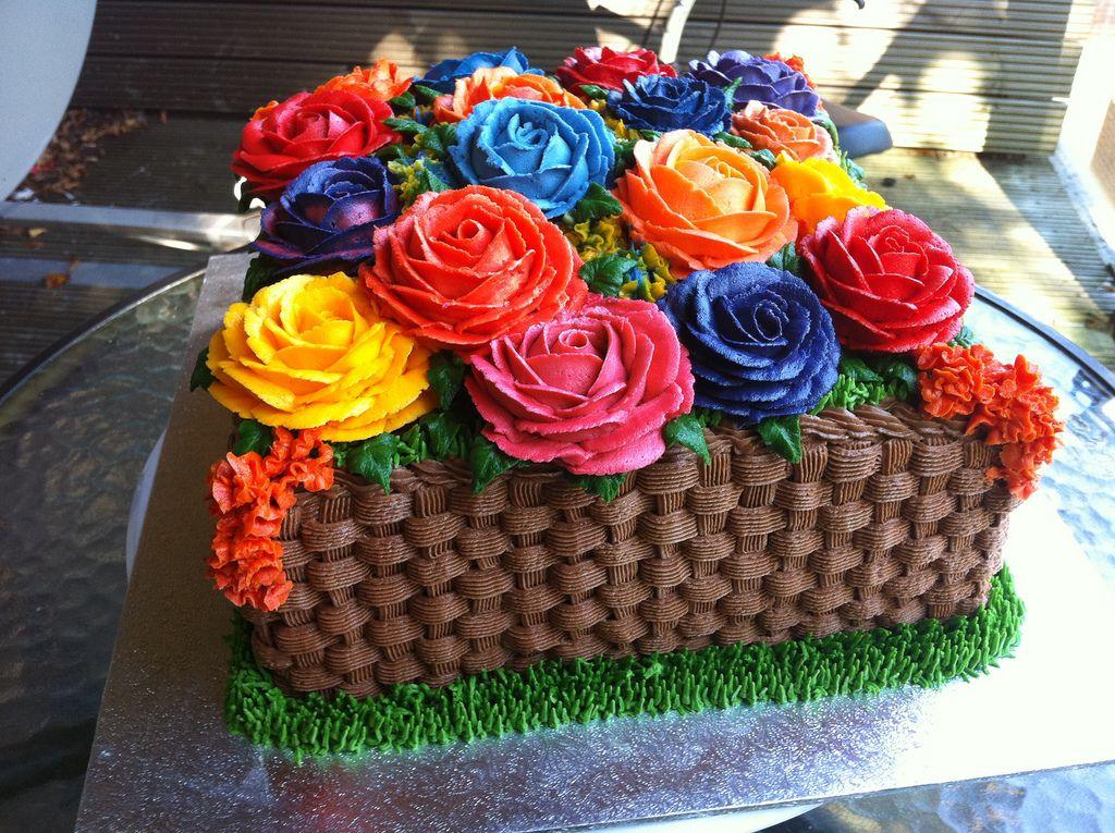 столько кремовый торт корзинка с цветами картинки скульптурой объемными буквами