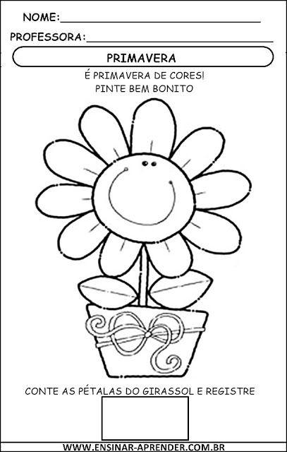 Atividades Sobre A Primavera Para Imprimir Cantinho Do