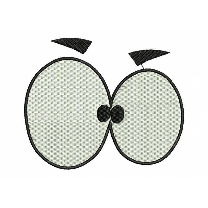 Comic Funny Eye Embroidery Design, Funny Eye Design, Eye