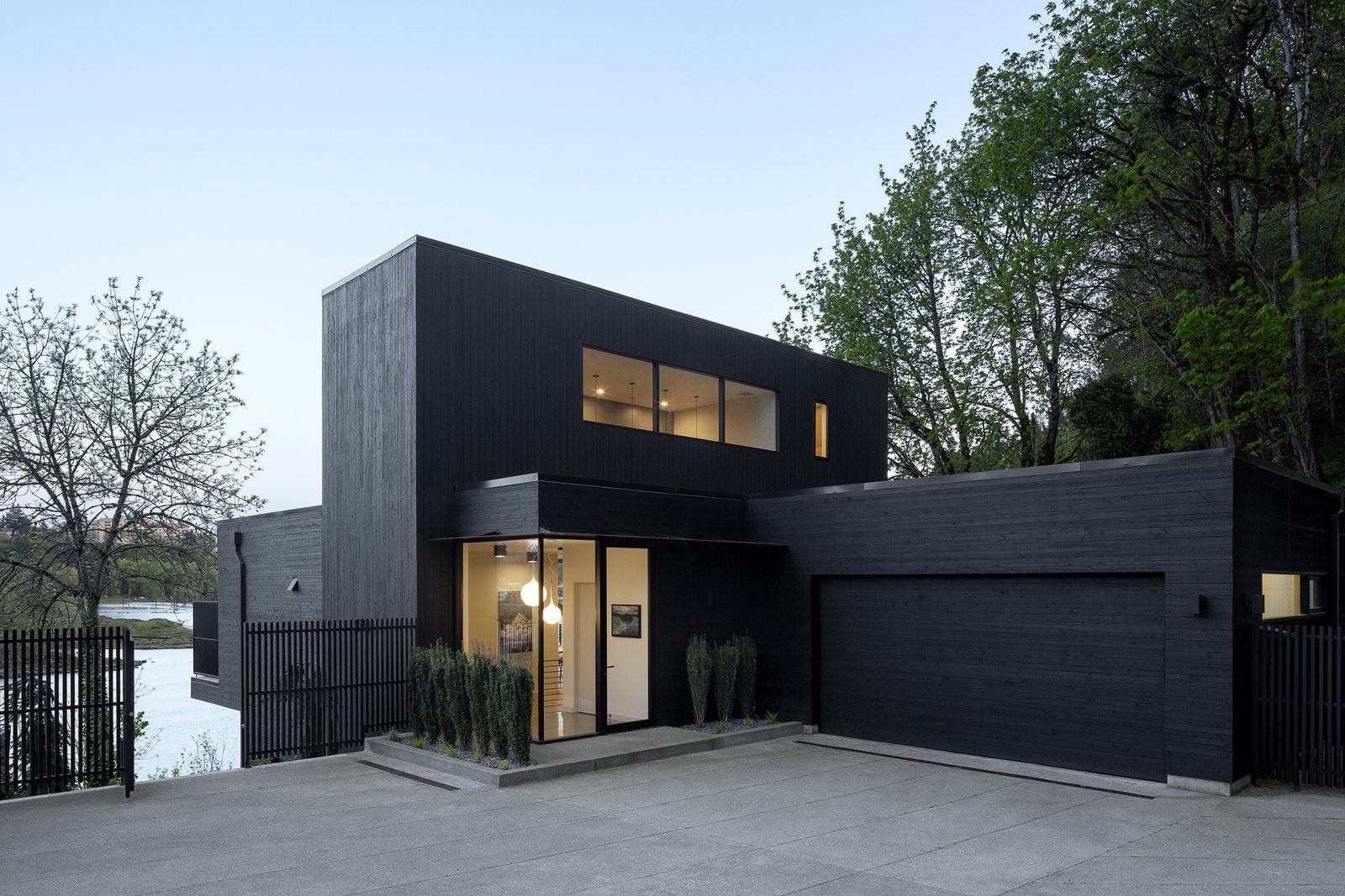 Exterior House Building Type Wood Siding Material And Flat Roofline Entry Photo 32 Of 1661 In Best Photos Wood Siding House Modern House