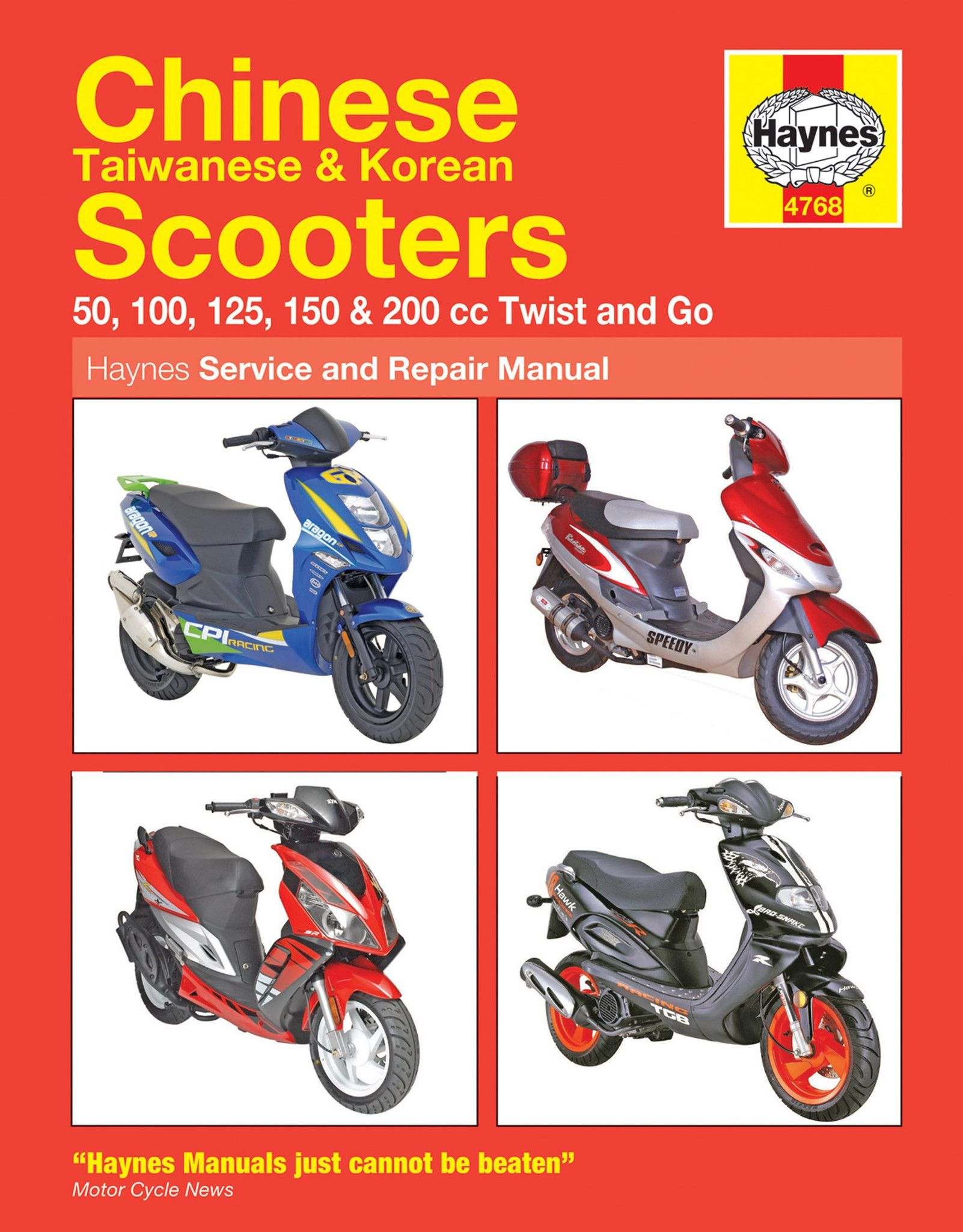 haynes m4768 repair manual for 2004 14 chinese taiwanese and korean rh pinterest com Moped Scooters 50Cc New 50Cc Scooter