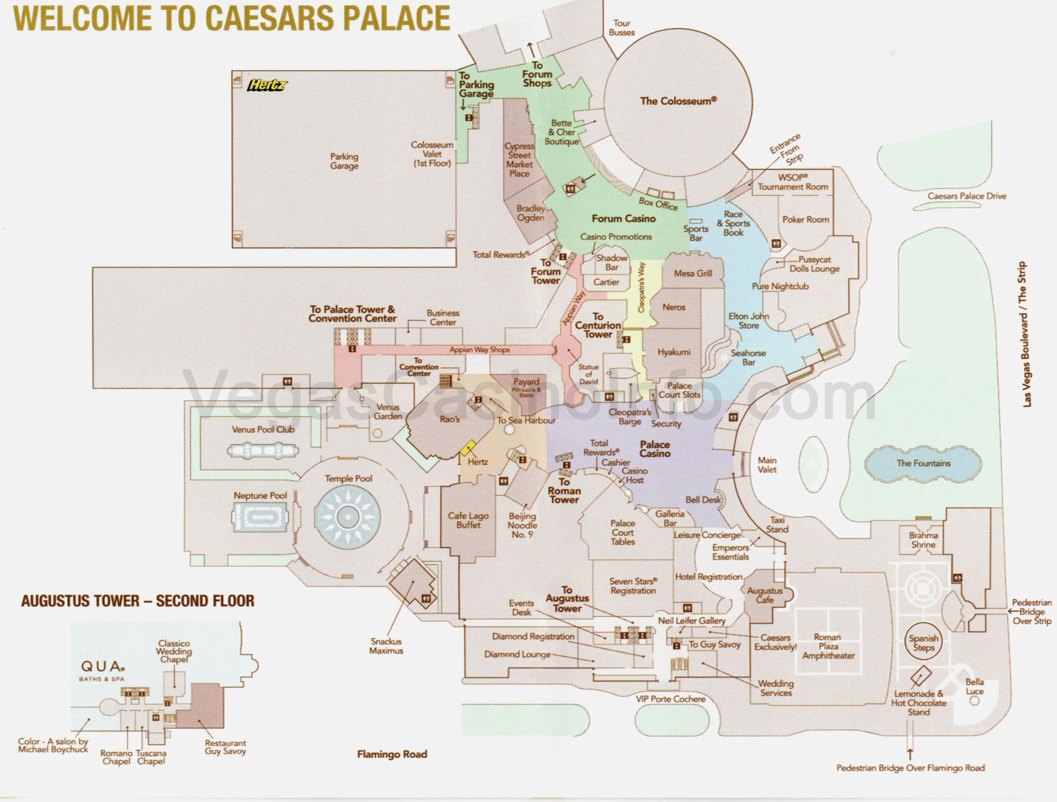 Map Of Caesars Palace Ceasar's Palace Indoor MAP | Travel in 2019 | Las vegas map, Las
