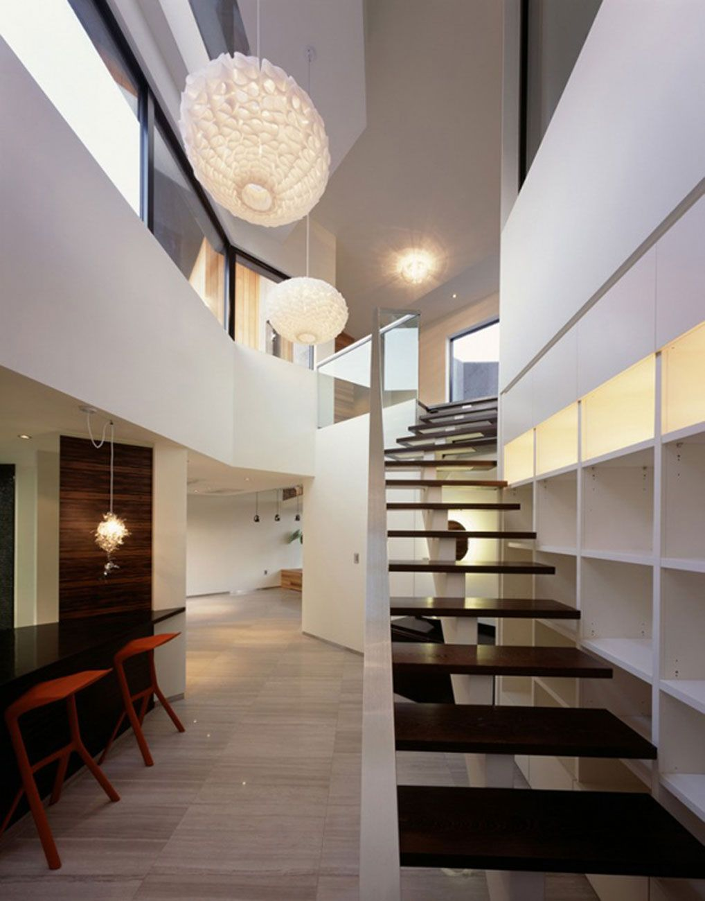 Z house stunning architecture of a modern house by korean architect staircase