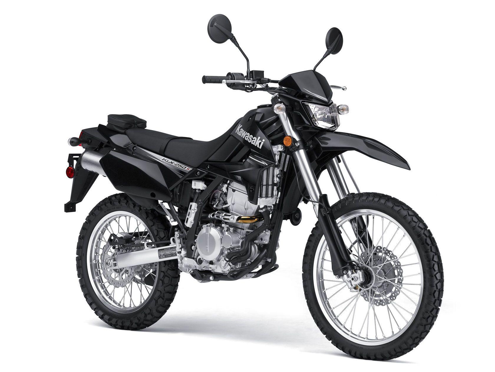 Black KLX250 Kawasaki motorcycles, Kawasaki bikes