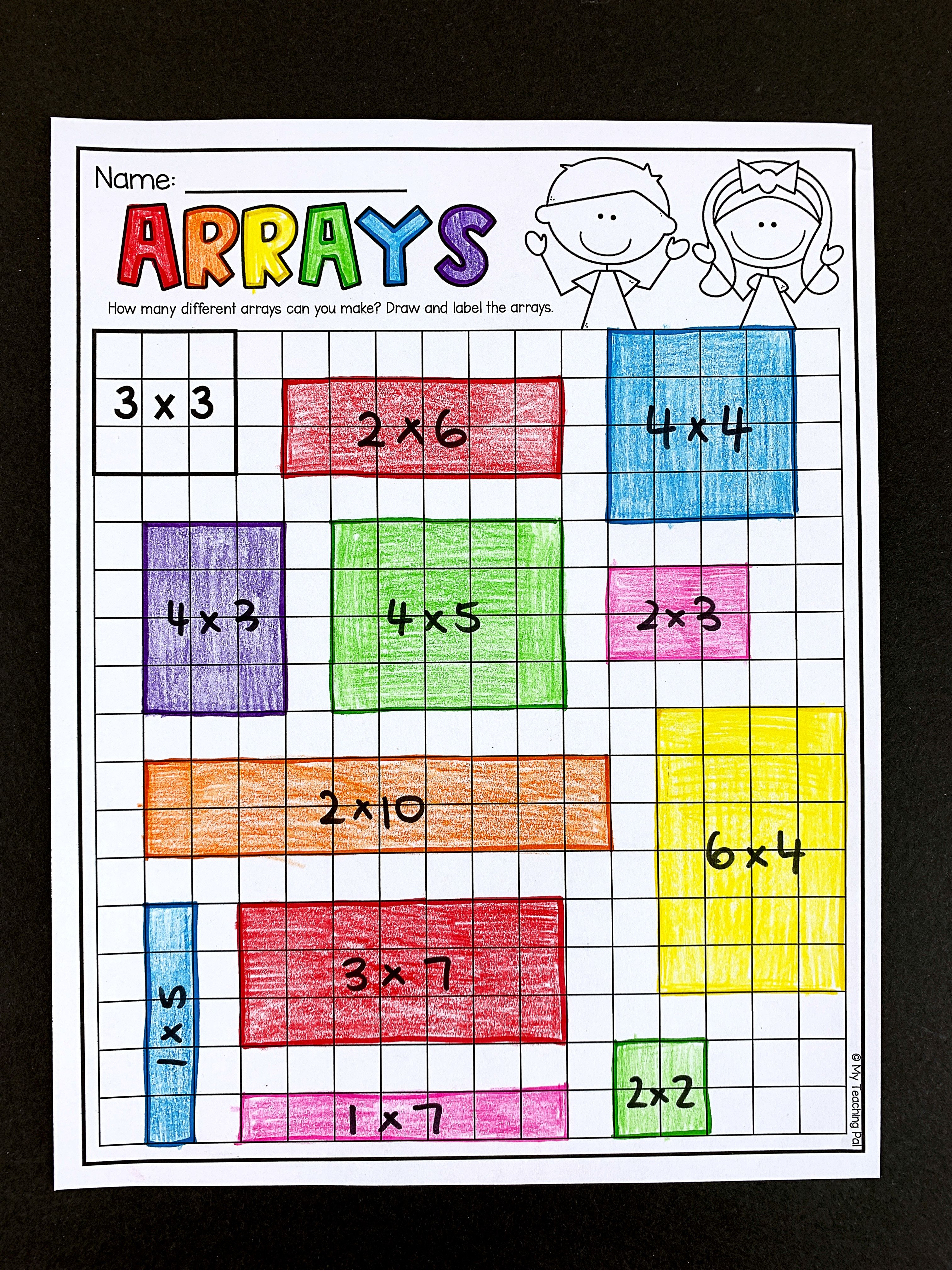 Second Grade Multiplication Worksheets