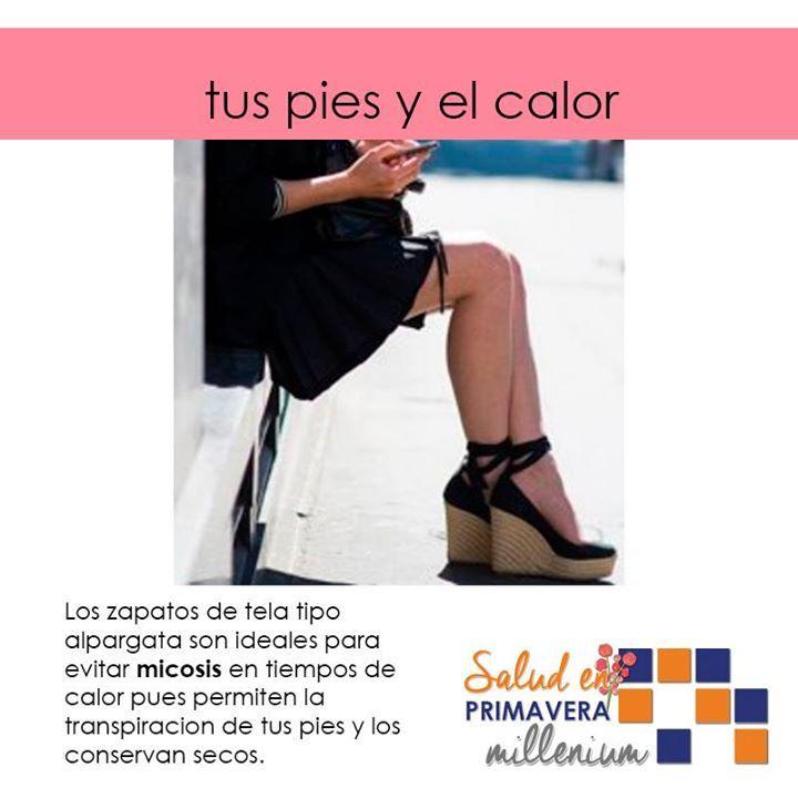 Prepárate con el calor hazte de zapatos que permitan la transpiración y no acumulen la humedad del sudor.