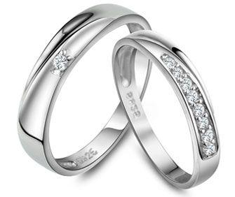 matching wedding rings for him and her
