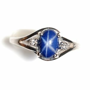 I Miss My Lindy Star Ring Star Sapphire Ring Blue Star Sapphire Ring Star Sapphire