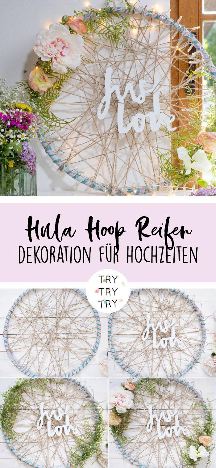 Hula Hoop Reifen Deko für die Hochzeit