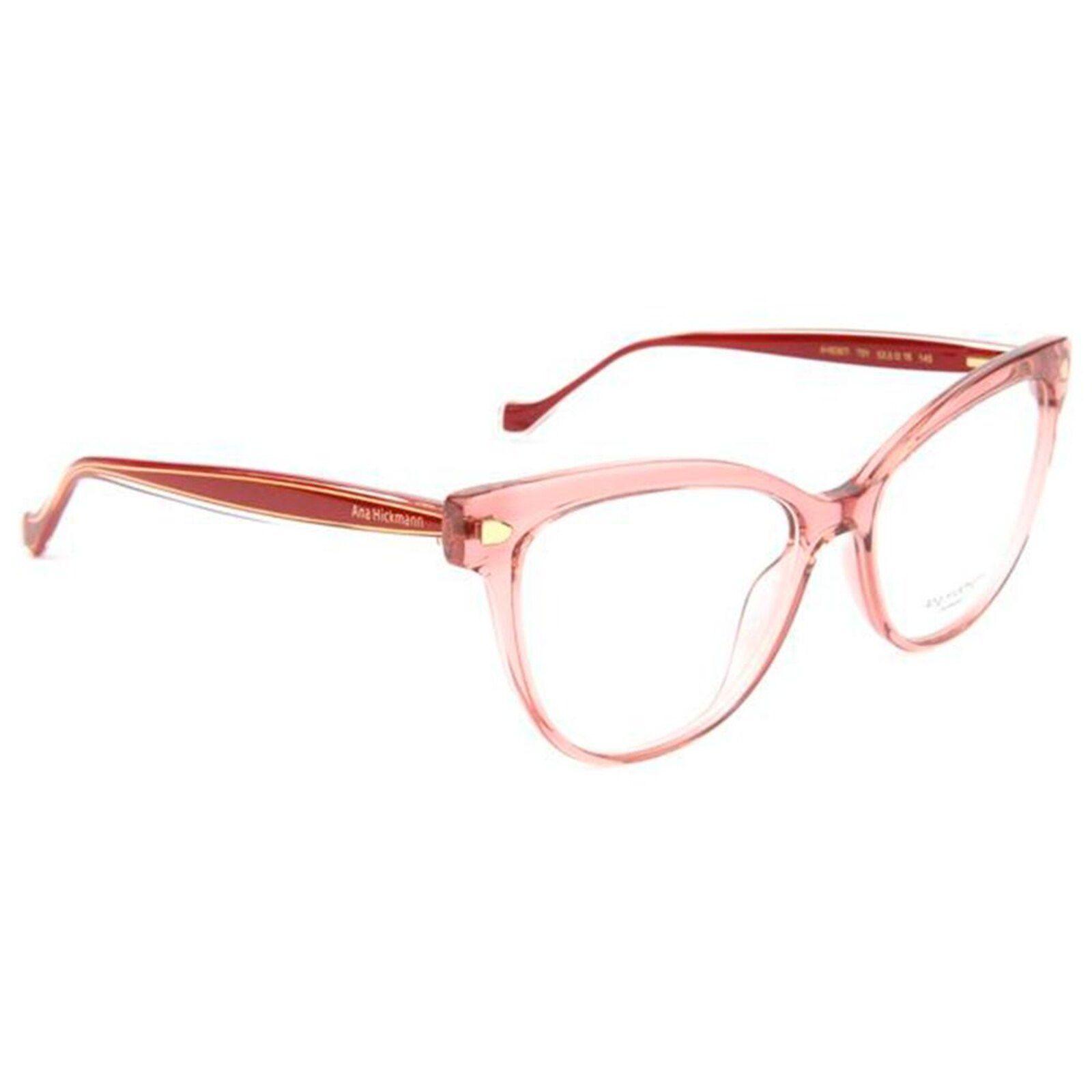 Oculos De Grau Ana Hickmann Ah6367i T01 54 Rosa Transparente Em