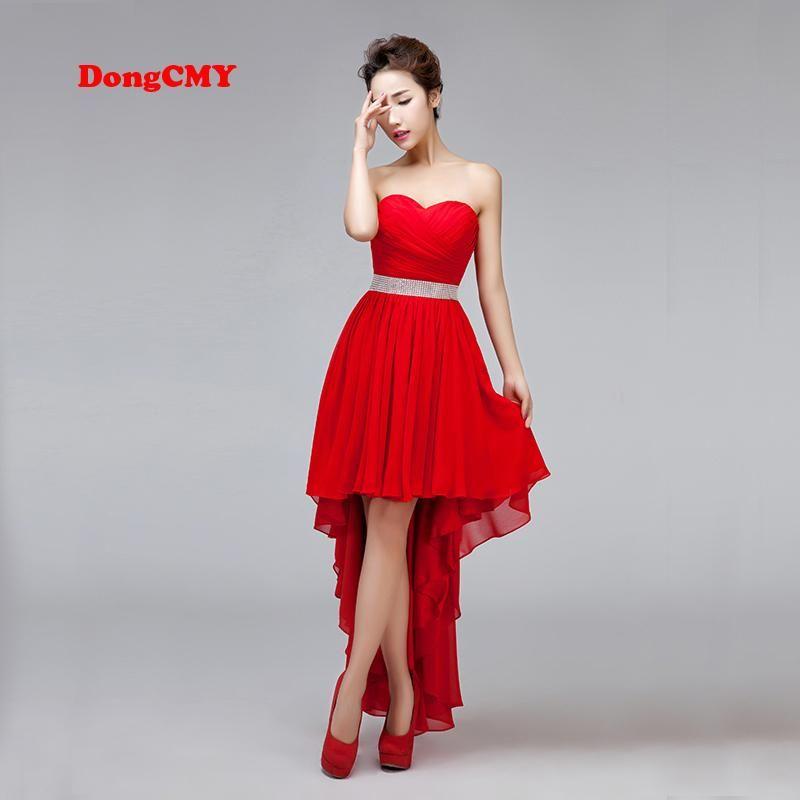 1f4da15b048b6 DongCMY New arrival 2019 Lace up party dress plus size Asymmetrical ...