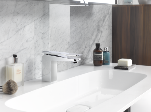 The Faucet Delivers Water Flow At A Pre Set Temperature Preventing Risk Of Burning Due To Very Hot Water It Enhances Safety For Children And Basin Mixer Taps Pentagon Design Shower Taps