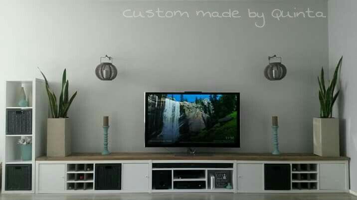 Ruime Tv Kast.Ikea Kallax Expedit To Diy Tv Stand Tv Meubel Kallax Kasten