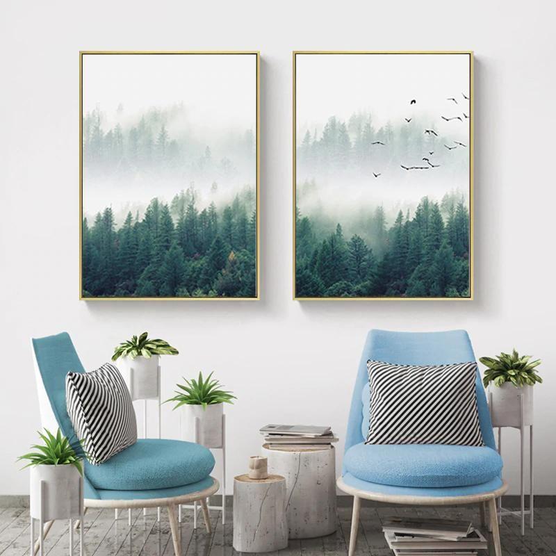 Inspirational Mystical Forest Landscape Posters Nordic Nature Canvas Prints Forest Landscape Forest Wall Art Landscape Wall Art