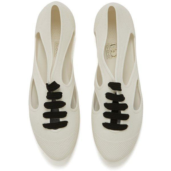 F-TROUPE WOMEN'S PLASTIC CUT OUT PUMPS - JELLY WHITE