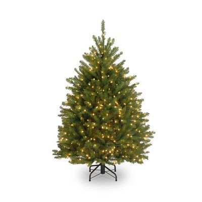 Northern 4 Green Pine Artificial Christmas Tree With 250 Clear Lights Types Of Christmas Trees Pre Lit Christmas Tree Christmas Tree