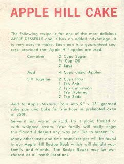 Cake Apple Hill Cake Recipe Food Blast From The Past In 2019