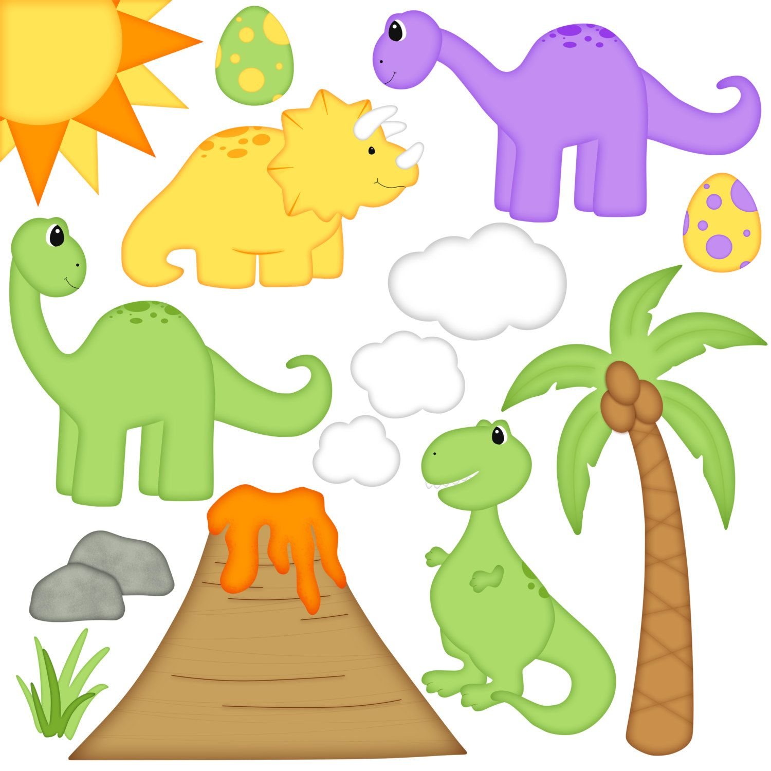 dinosaur digital clipart set of 14 brontosaurus t rex rh pinterest com scrapbooking clip art images scrapbooking clip art free