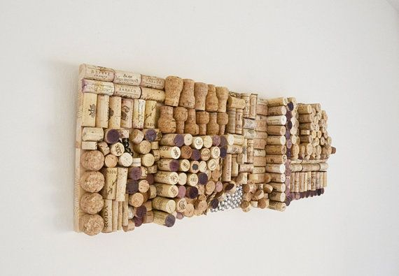 Cork Art Cork Wall Wine Cork Art Wine Wall Art
