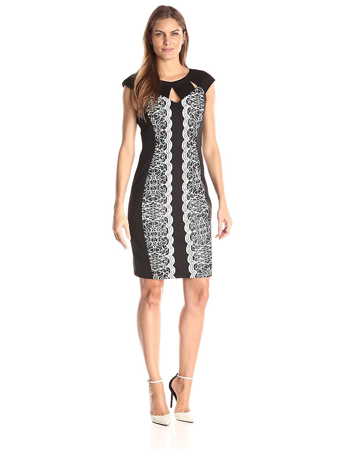 Jax Women\'s Extended Sleeve Cut Out Neck Sheath * Don\'t get left ...