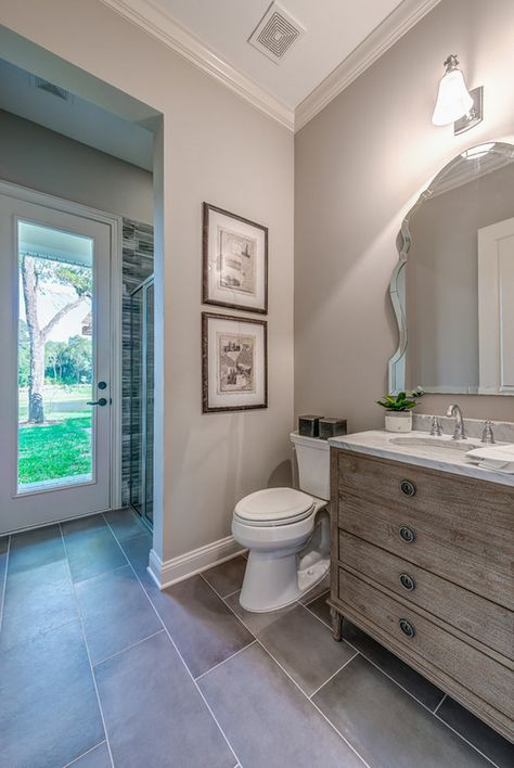 Wall Paint Color Is Sherwin Williams Worldly Gray Cottage Home Company Shuman Mabe Interiors Llc Painting Bathroom Grey Bathroom Paint Bathroom Colors