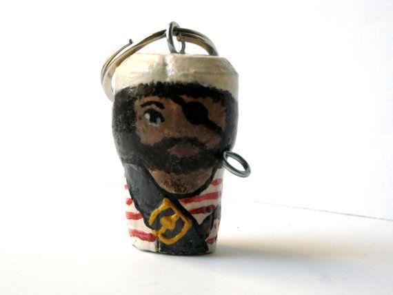 Pirates of the Caribbean keychain miniature keyring hand by Lunica #italiasmartteam #etsyshop #etsy #shopping #giftidea @etsy