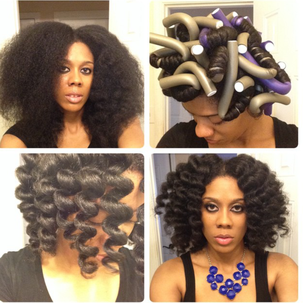 Video flexi rod tutorial on transitioning or relaxed hair curly cheating a bantu knot out with flexi rods curly nikki natural hair styles baditri Choice Image