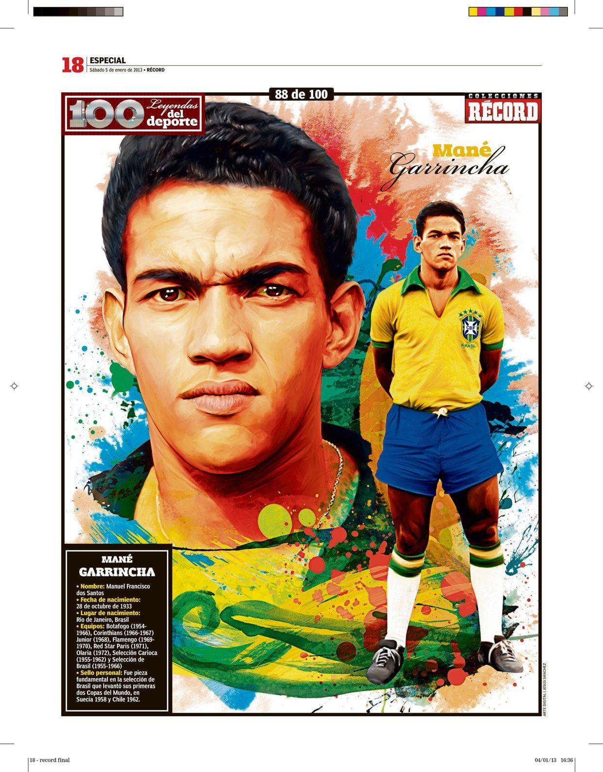 100 Leyendas Del Deporte 100 Sports Legends On Behance Football World Football Good Soccer Players Best Football Players