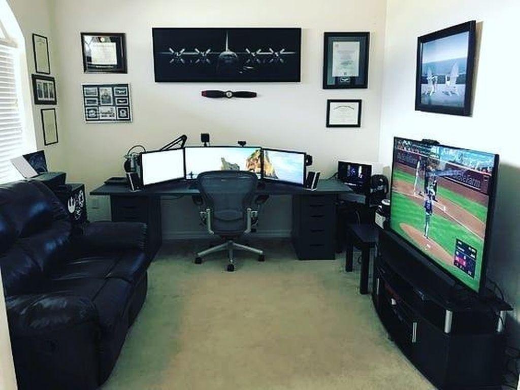 20 Unique Gaming Desk Computer Setup Ideas Room Setup Game Room Design Home Office Setup