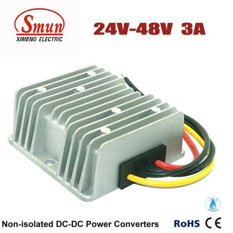 24V to 36V 72W WaterProof DC//DC Step-UP Power Converter Regulator 2A