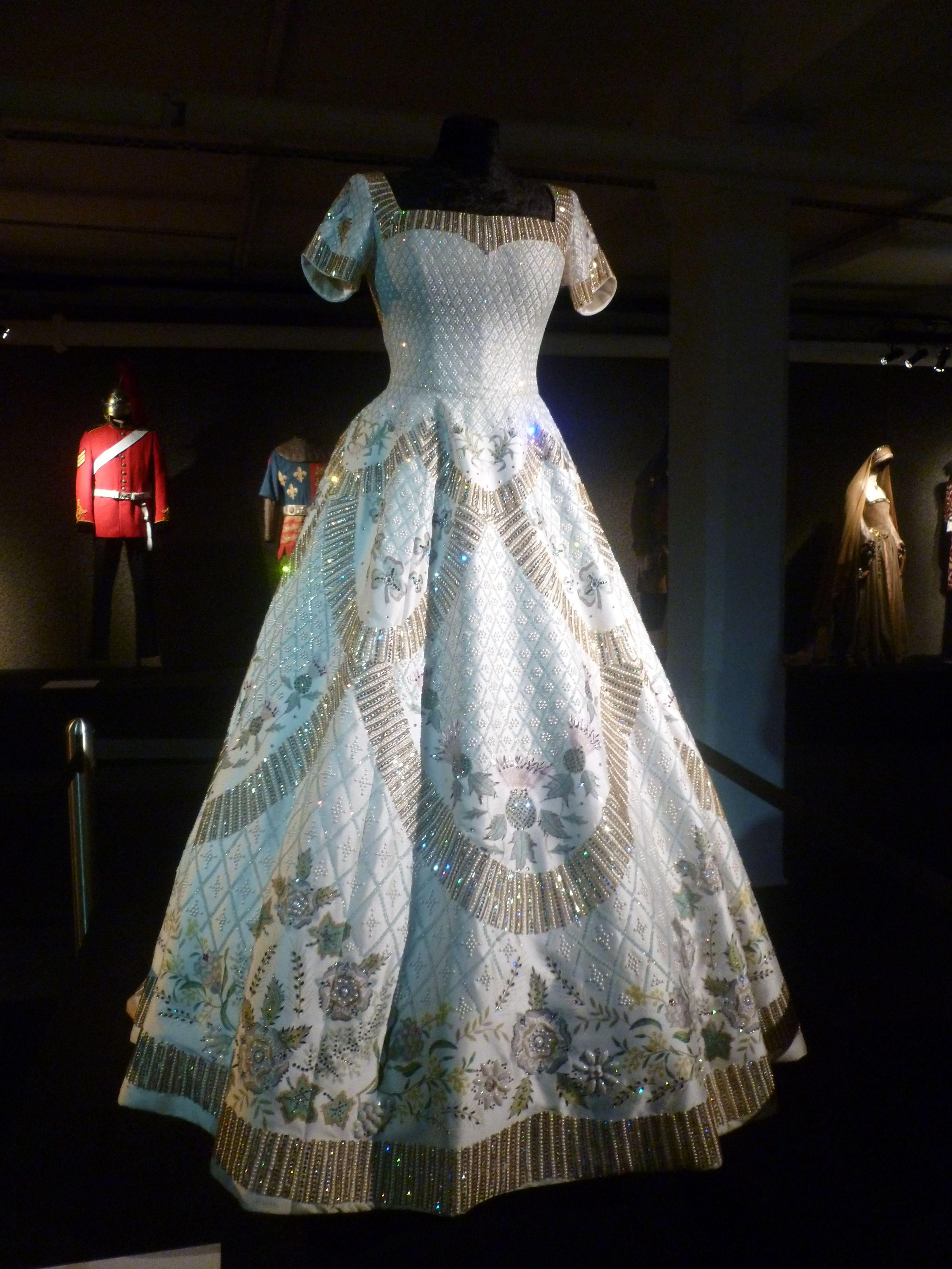 Elizabeth II\'s coronation gown | Costumes | Pinterest | Gowns
