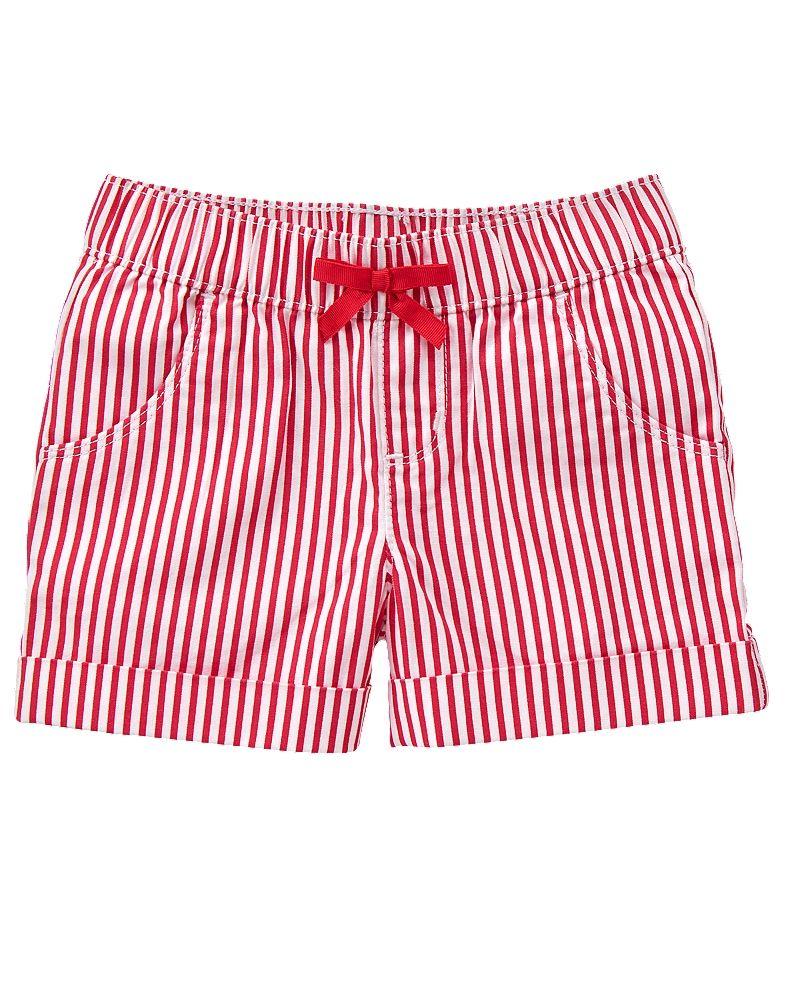 Gymboree Girl Red White & Cute Striped Shorts | Gymboree Patriotic ...