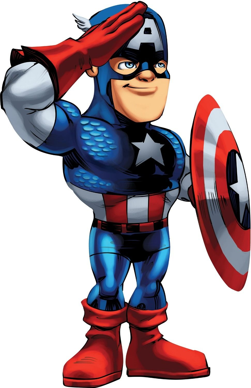 Marvel Super Hero Squad Cap Jpg 971 1 500 Pixels Super Heros