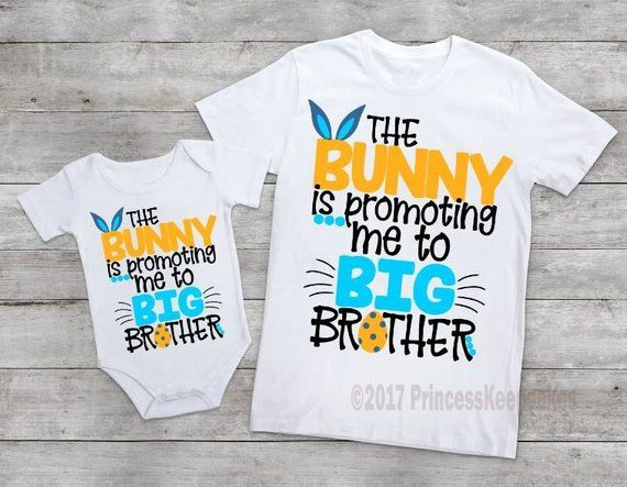 3374b7758 The bunny is promoting me to big brother, Boy Easter tee, Boys Easter Shirt,  big brother shirt, boys