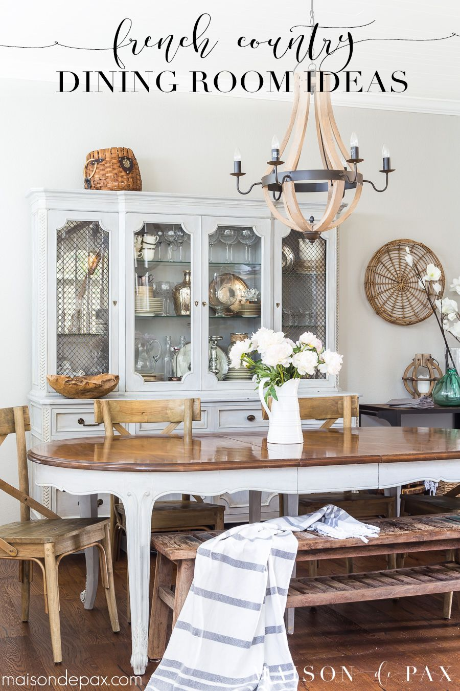 Find out how to achieve a simple french country dining room look frenchcountry neutrals diningroom decorating frenchfarmhouse frenchdecor