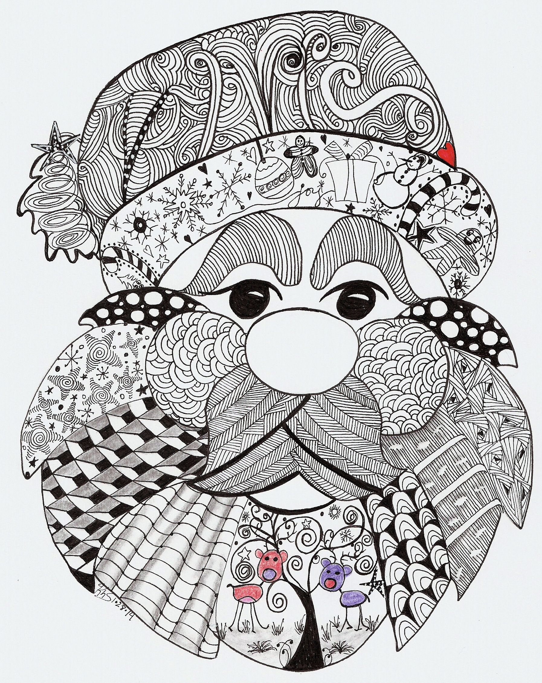 Kathleens Art Creations Home Page Zentangle Patterns Christmas Doodles Christmas Note Cards