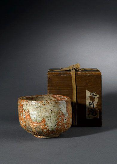 Shigaraki japanische Keramik Teeschale chawan