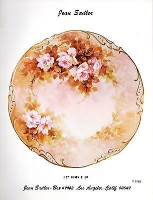 #75 Yellow Wild Roses China Painting Study by Jean Sadler 1975