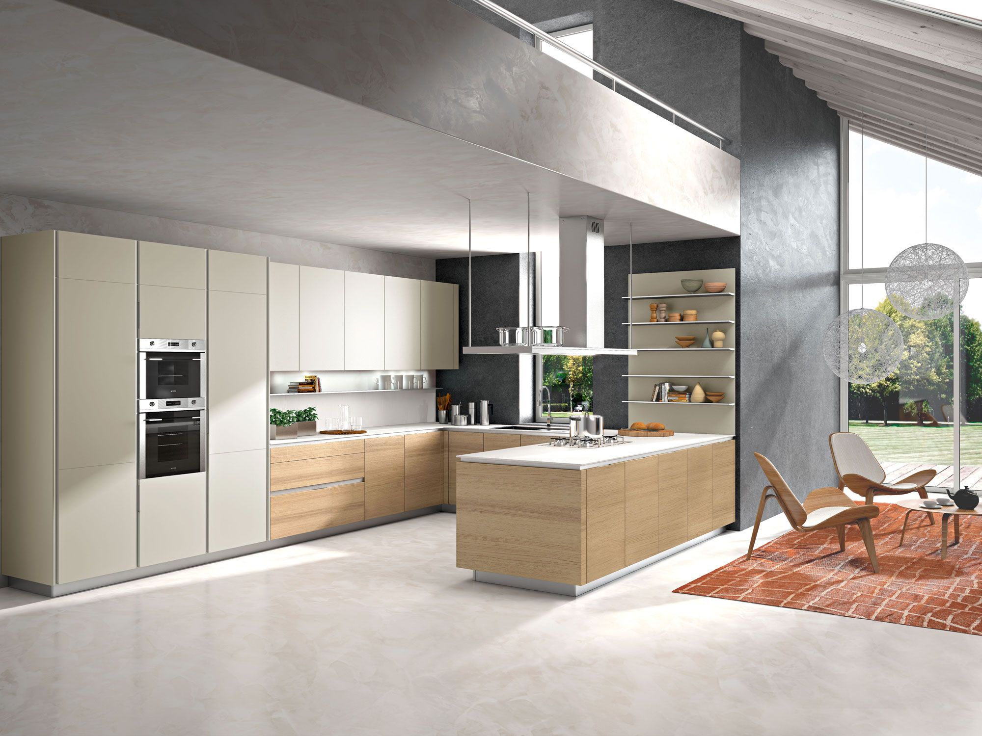 Modern Kitchen Designs | Orange Modern Kitchen | Snaidero USA ...