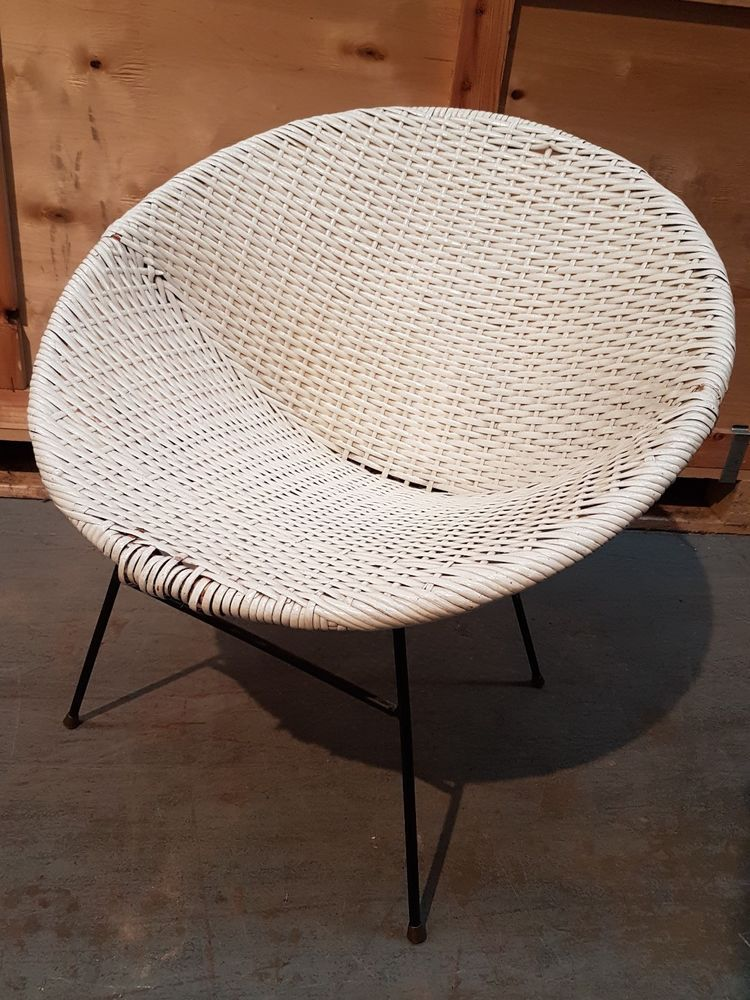 Vintage 1960s Circular Basket Chair