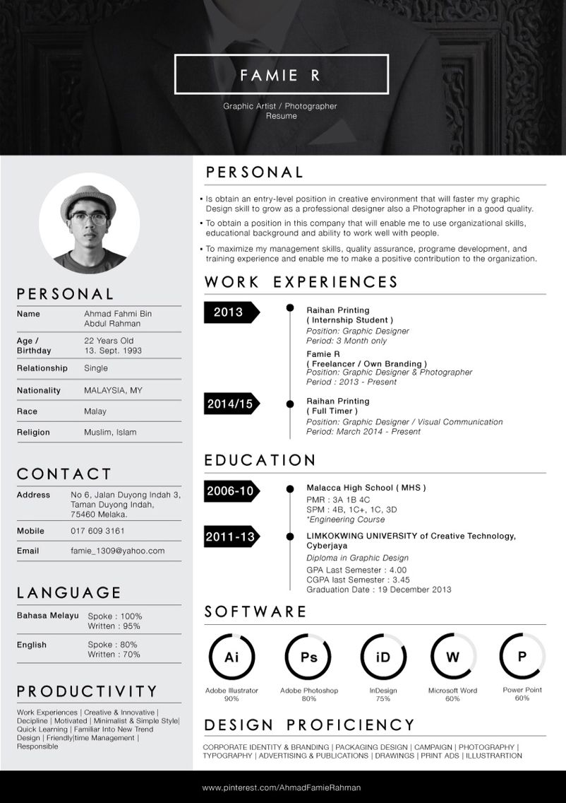 re design my own resume