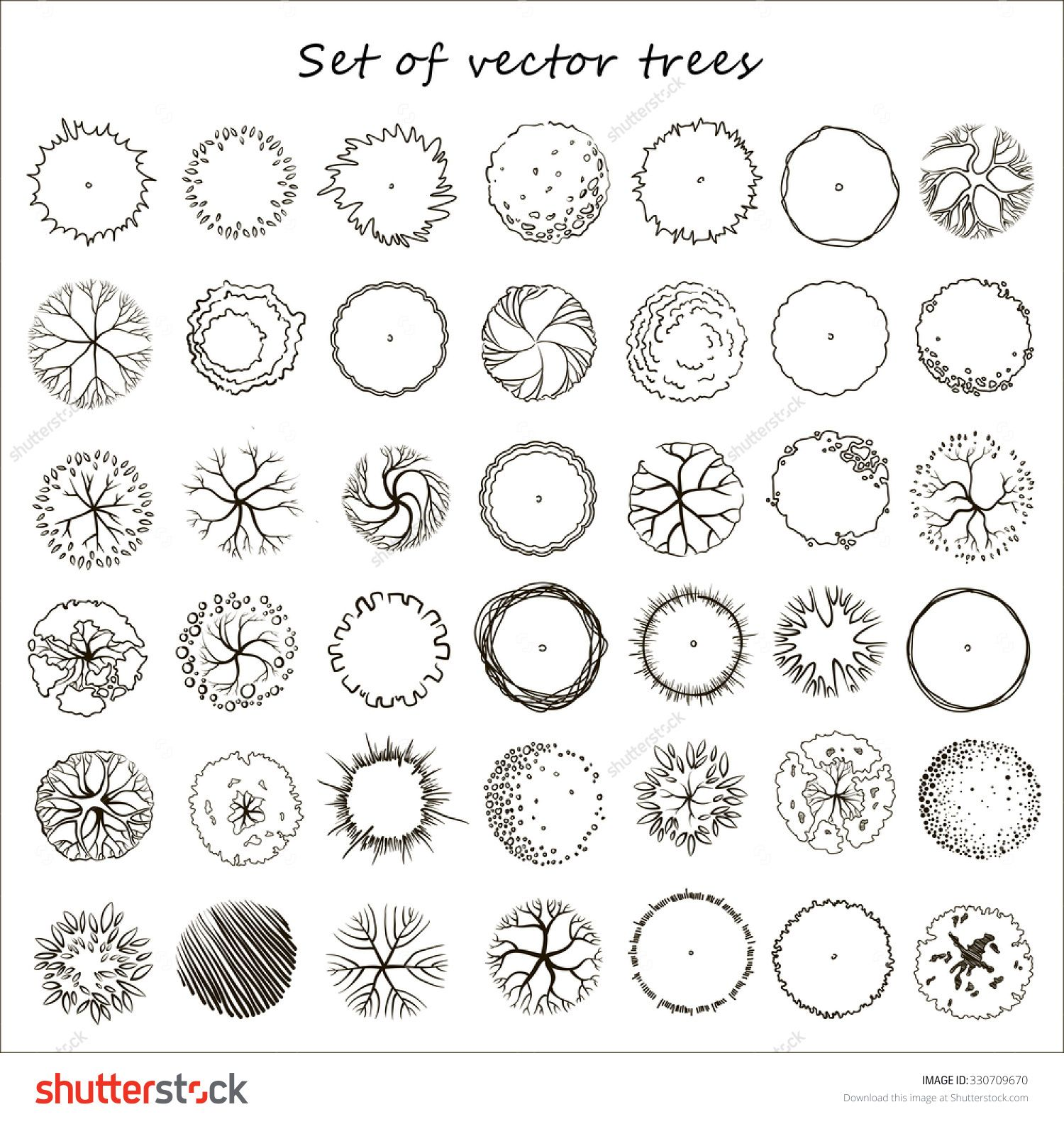 Architecture Drawing Trees tree plan silhouette vector - buscar con google | grafismo