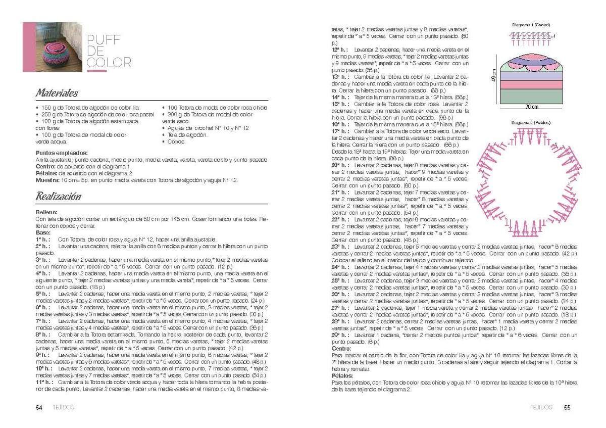 Decora Con Totora. 21 Proyectos Para Tejido Y Crochet! Libro - $ 120 ...