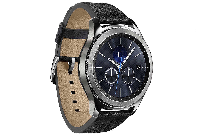 Samsung Gear S3 Classic 3 3 Cm 1 3 Zoll Display Nfc Bluetooth Wlan Tizen Os Mit Echtleder Armband Fur 239 Amazon Samsung Smartwatch