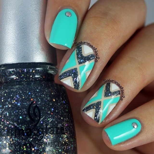 Blue Nails China Glaze Nail Art Nail Design Polishes Polish