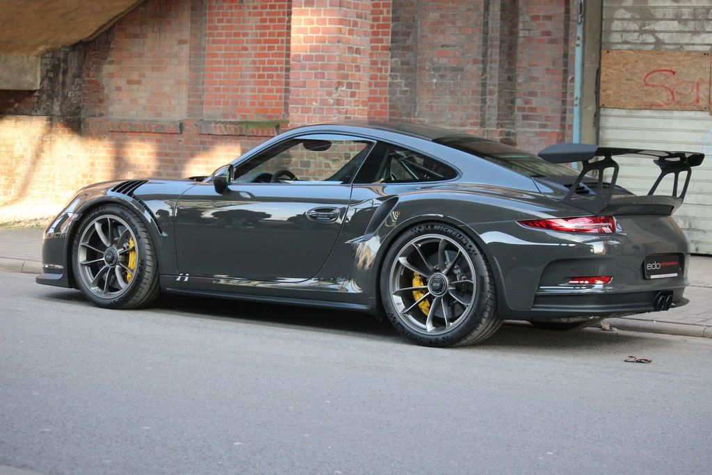 Porsche 911 Gt3 Rs Typ 991 1 Color Slate Gray Slate Grey Powered By Edo Competition Porsche 911 Porsche 911 Gt3 Gt3 Rs