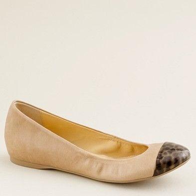 d291494d201d Cece Leather and Tortoise Ballet Flats --  J. Crew Such a cute shoe. (hate  the real animal use...)