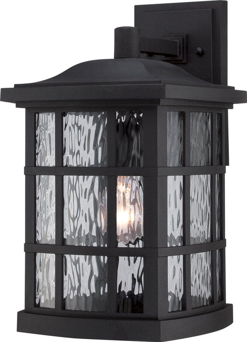 0-035427>Stonington 1-Light Outdoor Wall Light Mystic Black
