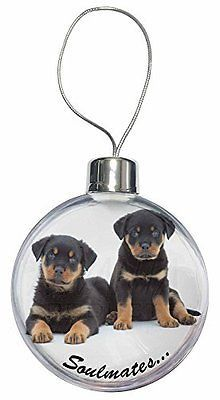 Rottweiler Puppy Dogs Soulmates Christmas Bauble Decoration View More On The Link Http Christmas Tree Baubles Christmas Decorations Tree Christmas Puppy