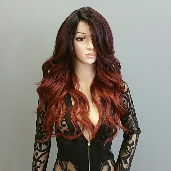 #91 MODEL MODEL DEEP INVISIBLE L-PART SYNTHETIC LA #91 MODEL MODEL DEEP INVISIBLE L-PART SYNTHETIC LACE FRONT WIG,  OMFIRERED,  curling iron safe up to 400 degrees Fahrenheit Model model  Accessories Hair Accessories